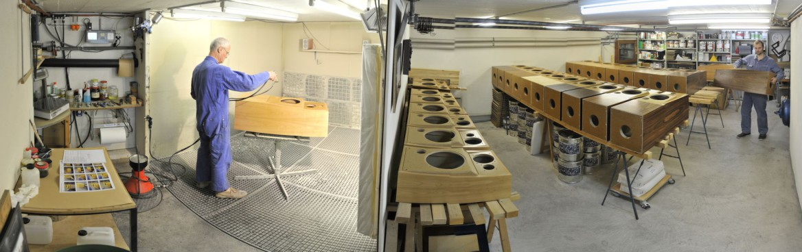 atelier de giclage pour enceintes acoustiques Jean Maurer, photo panoramique